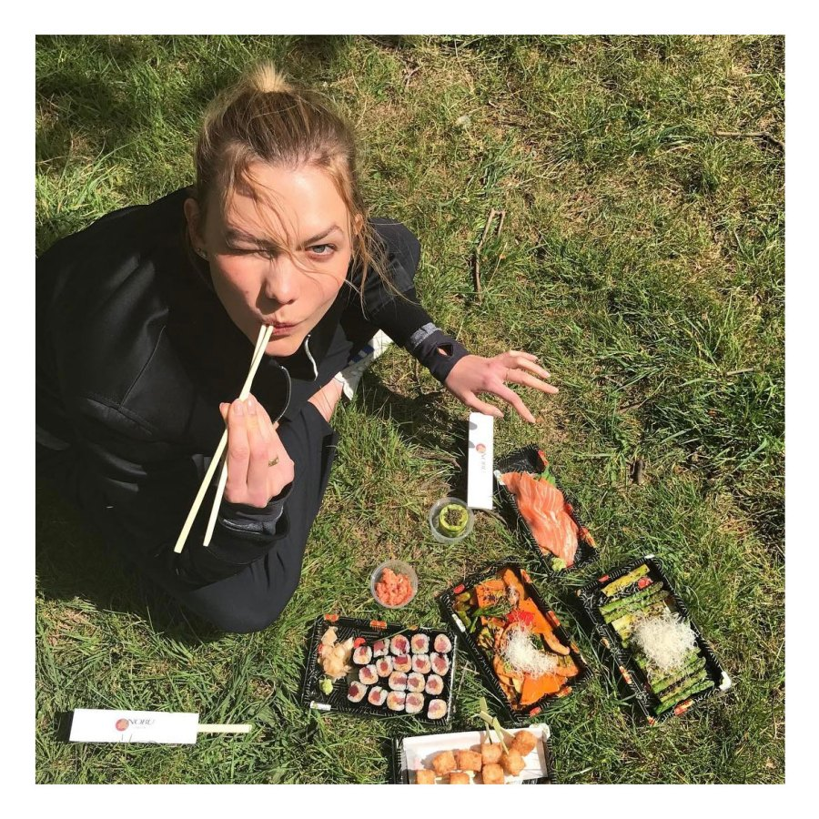 Karlie Kloss Stars Share What They Eat for Lunch