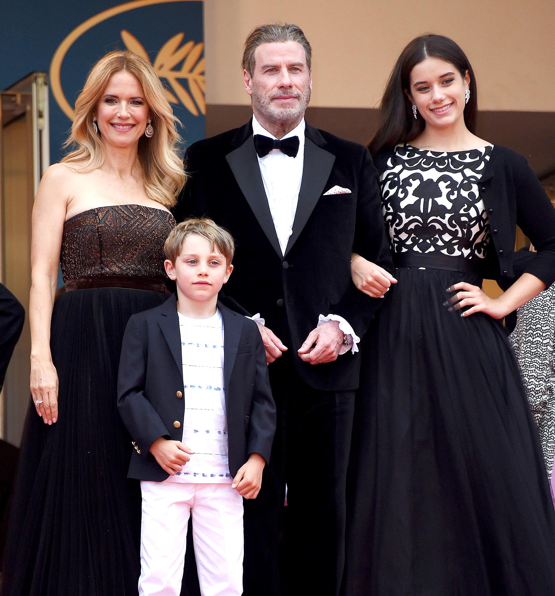 Kelly Preston heart and soul of family John Travolta, Kelly Preston, Ella Bleu Travolta and Benjamin Travolta