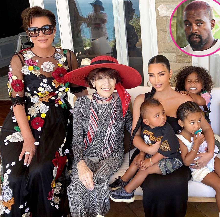 Kim Kardashian Shares Family Photos With 4 Kids After Kanye New Tweets