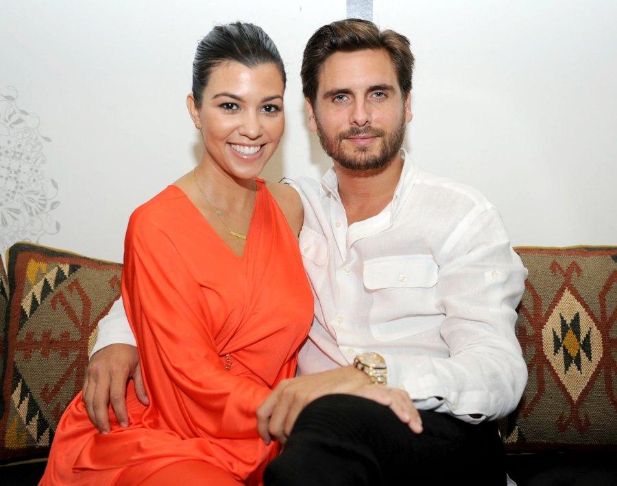 Kourtney Kardashian Scott Disick flirting on Instagram