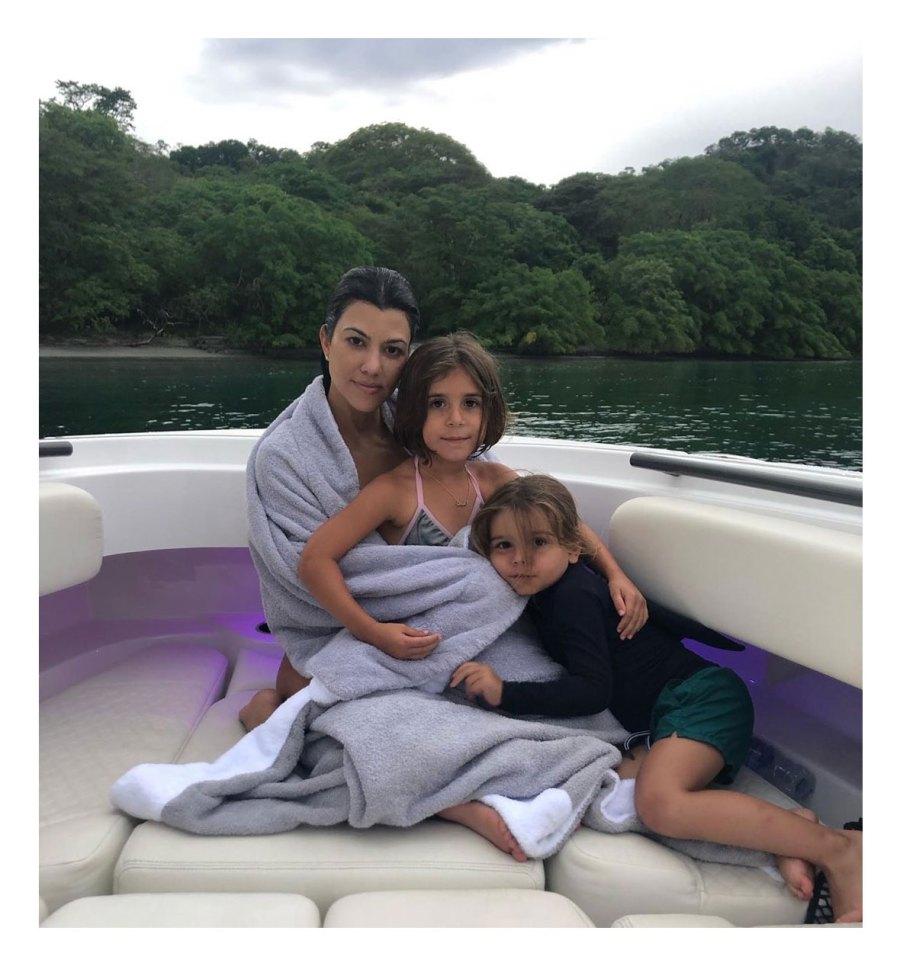 Kourtney Kardashian Stays Present With Three Kids Penelope Reign