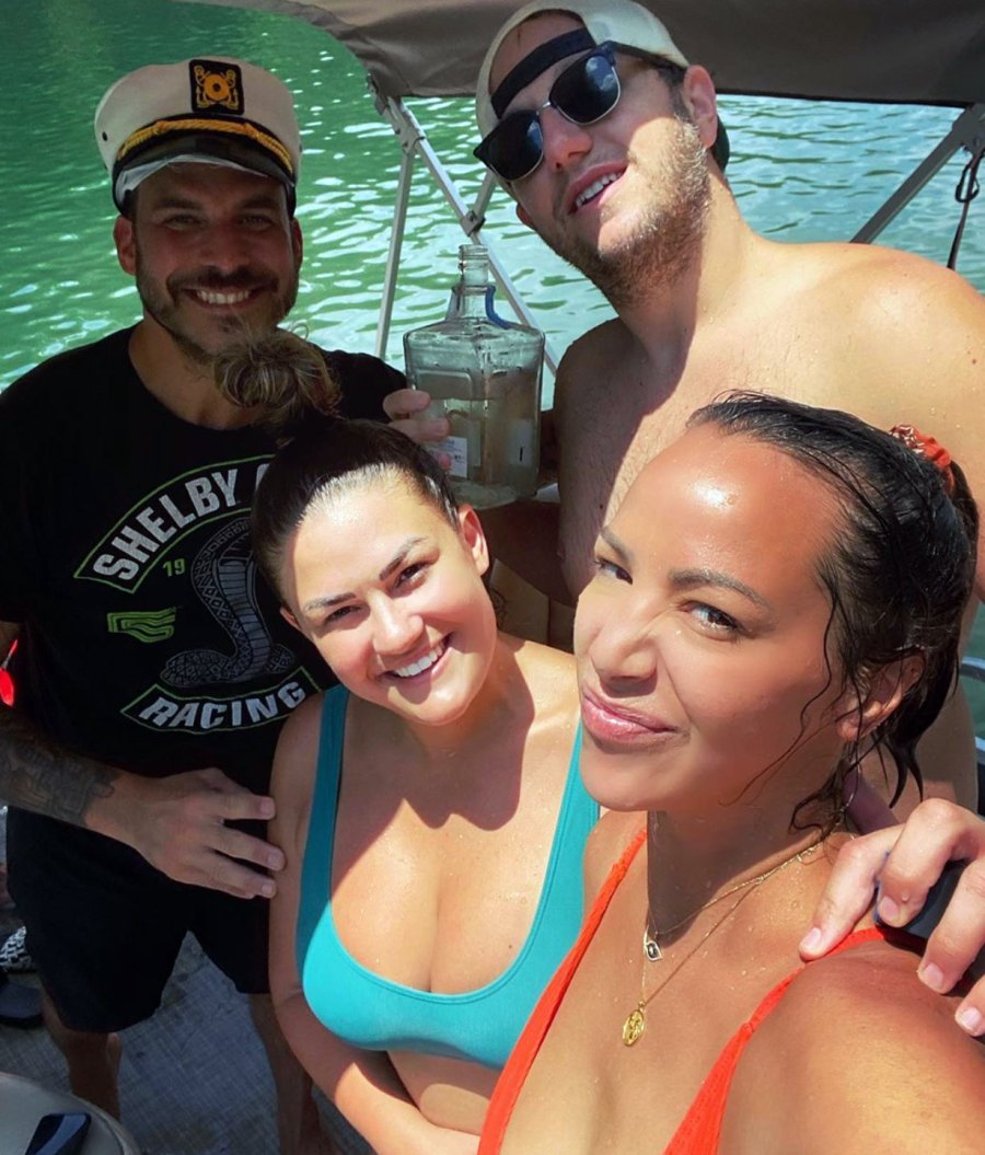 Kristen Doute Hangs With Jax Taylor Brittany Cartwright in Kentucky Lake Photos