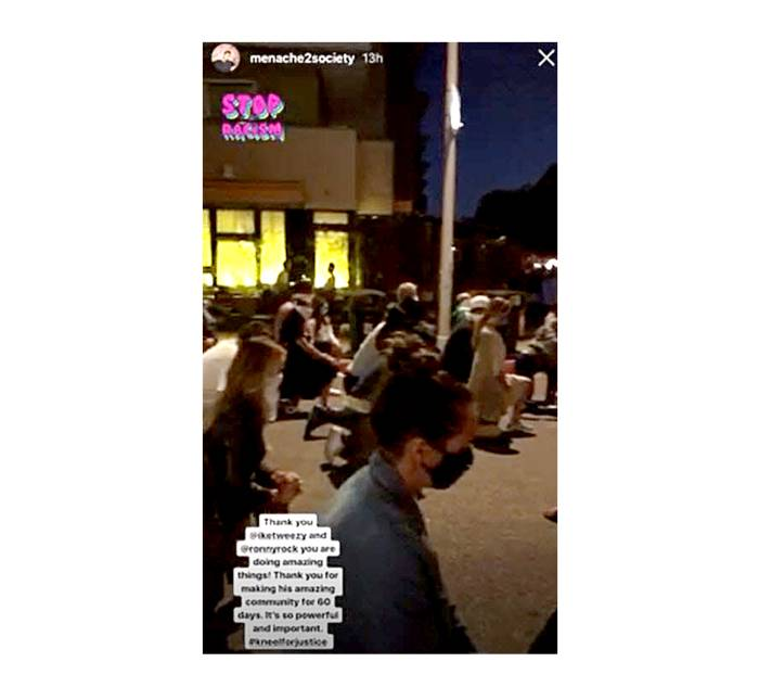 Kristen Doute Kneels Black Lives Matter Protest After Pump Rules Firing