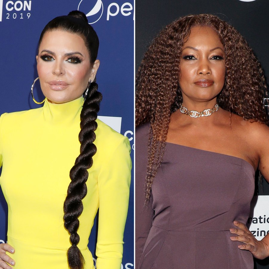 Lisa Rinna and Garcelle Beauvais RHOBH The Real Housewives of Beverly Hills Dramatic Reunion