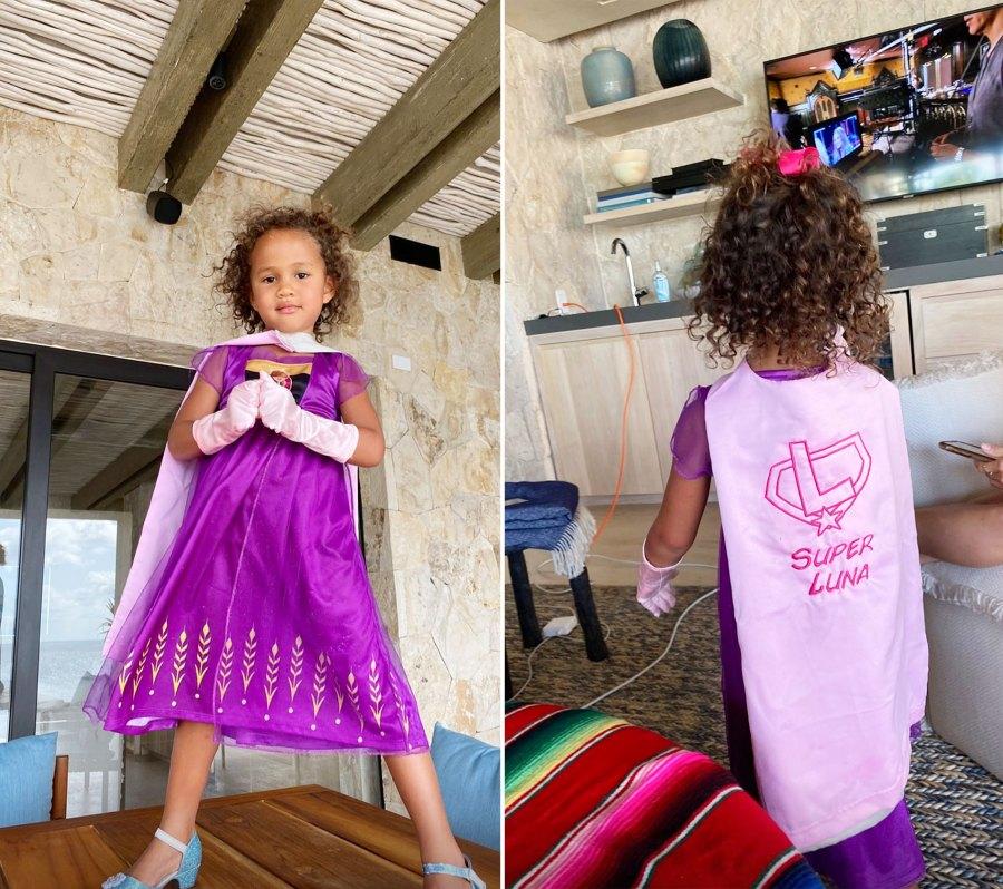 Luna Legend in a Purple Princess Dress and a Super Luna Cape