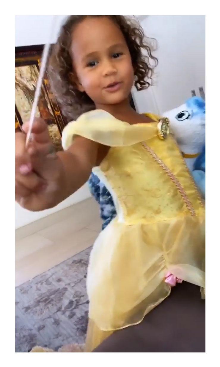 Luna Princess Belle Dress Chrissy Teigen Instagram