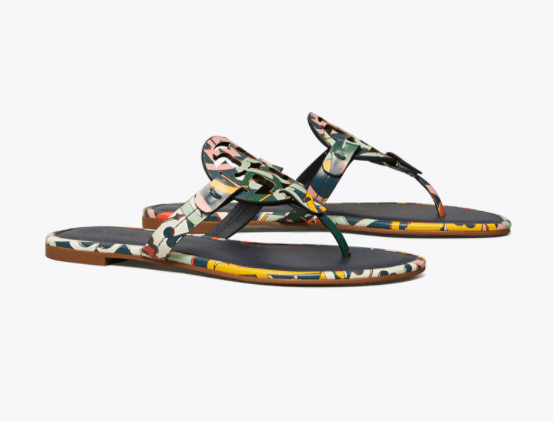 Miller Sandal Printed Leather (Medley Logo/Perfect Navy)
