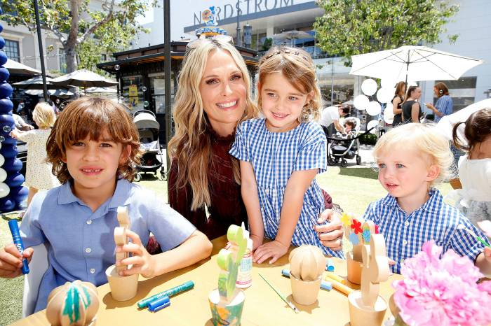 Molly Sims with her children Scarlett May Stuber, Grey Douglas Stuber and Brooks Alan Stuber