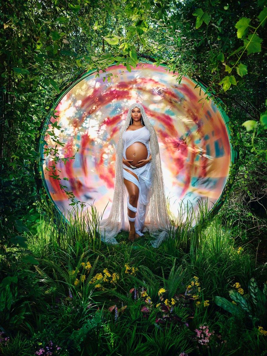 Nicki Minaj Baby Bump Pregnant Virgin Mary David LaChapelle