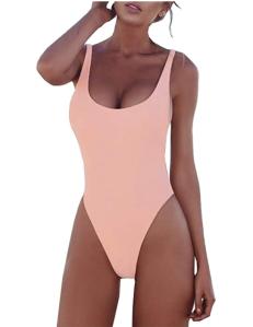PRETTYGARDEN Women's One Piece Tummy Control U Neck Backless Swimsuits
