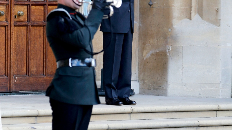 Prince Philip Makes Rare Appearance for Military Ceremony at Windsor Castle