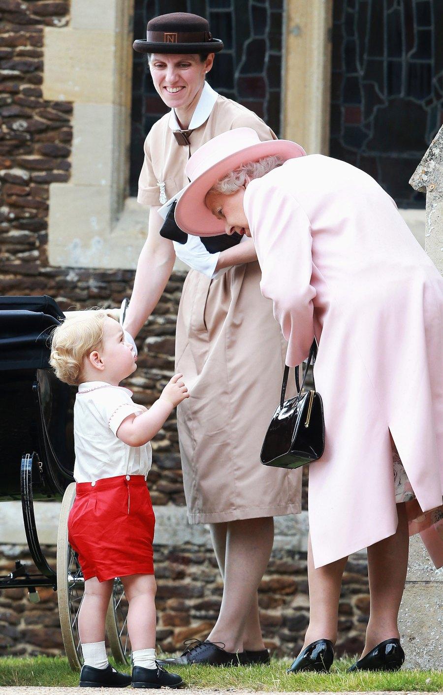 Queen Elizabeth II dotes on grandchildren