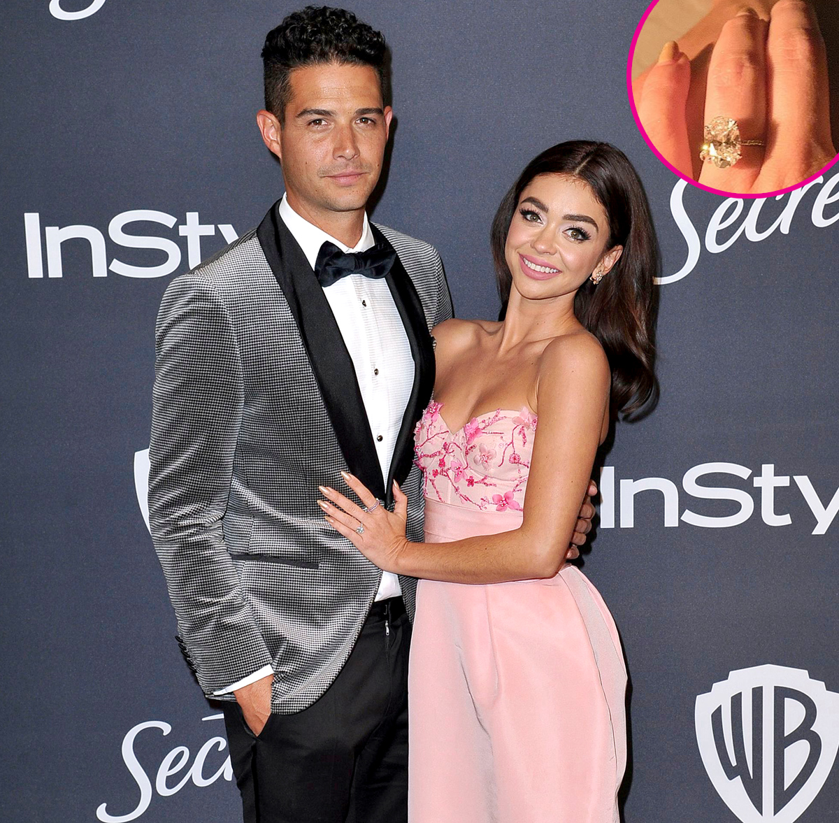 Sarah Hyland and Wells Adams Celebrate 1-Year Engagement Anniversary