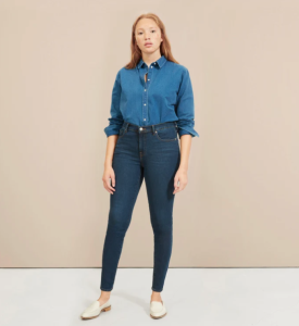 The Authentic Stretch Mid-Rise Skinny (Dark Blue Wash)
