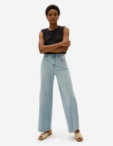 The Super-Soft Wide Leg Jean (Sky Blue)