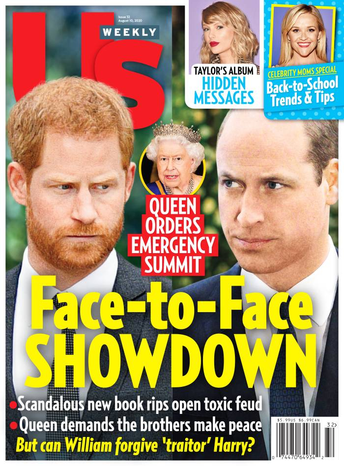 Us Weekly Issue 3220 Cover Prince Harry vs Prince William