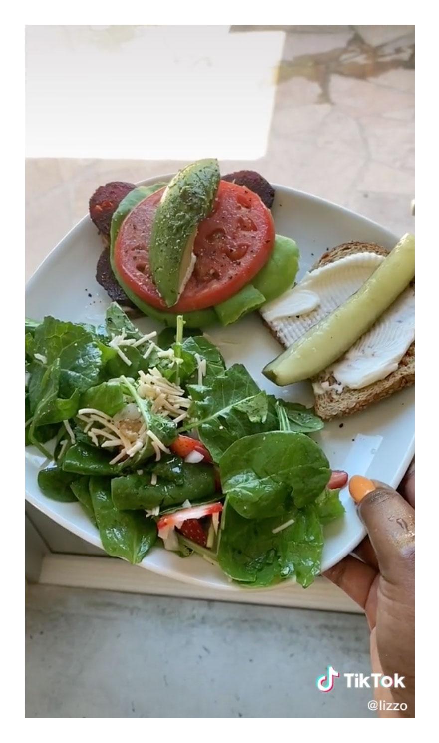 Vegan BLT Sandwich Lizzo Reveals More of Her Favorite Vegan Eats TikTok