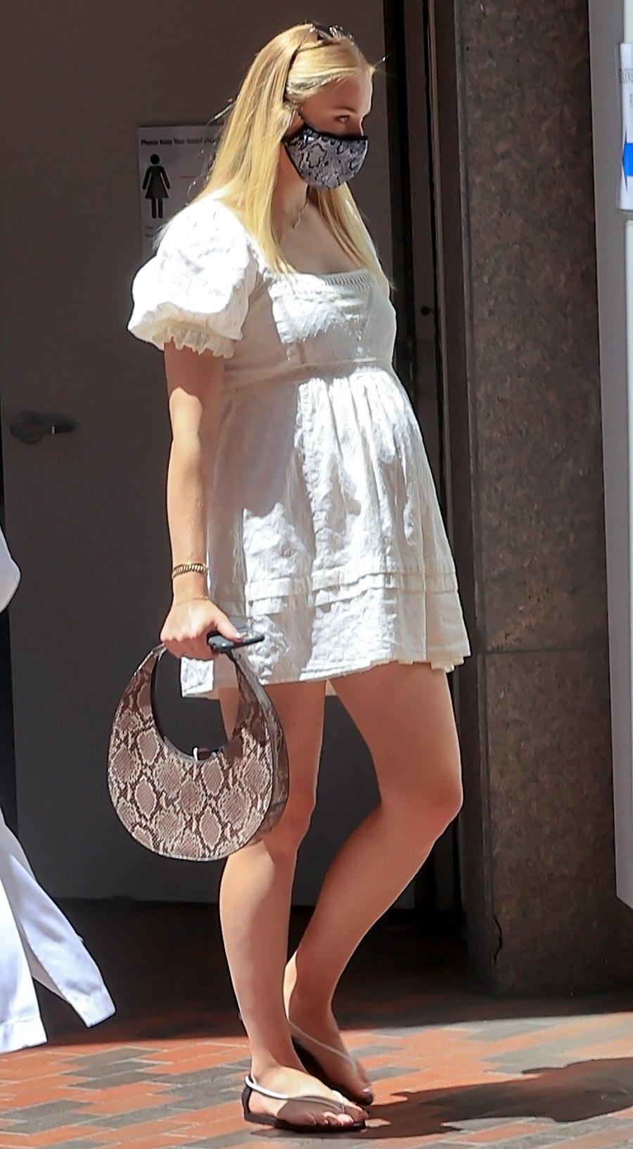 Wearing White Sophie Turner Pregnancy Pics Ahead of Her, Joe Jonas' Child