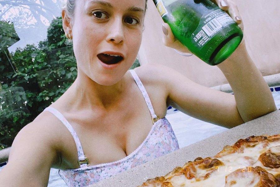 Celebrities Who Love Pizza Brie Larson