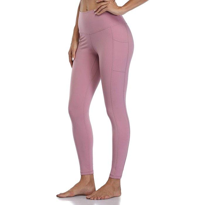Colorfulkoala leggings de pantalón de yoga de talle alto con bolsillos