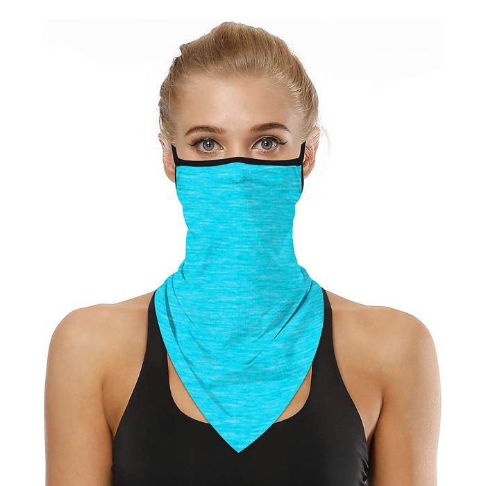 LOLONG Face Bandana Ear Loop Neck Gaiter