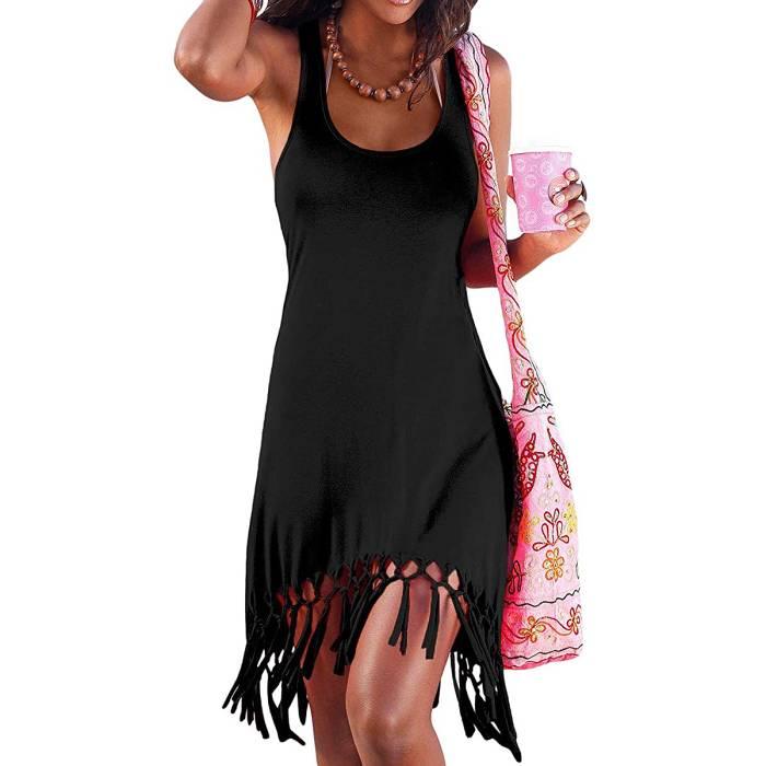 pinziko Summer Sleeveless Beach Dress