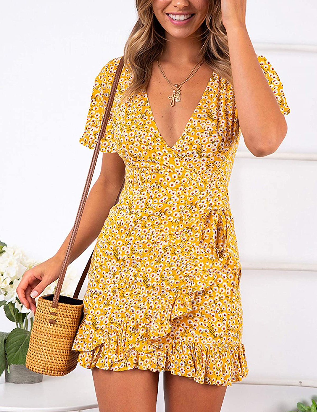 Relipop Summer Short Sleeve Print Dress