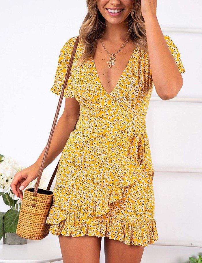 Vestido de verano de manga corta con estampado Relipop