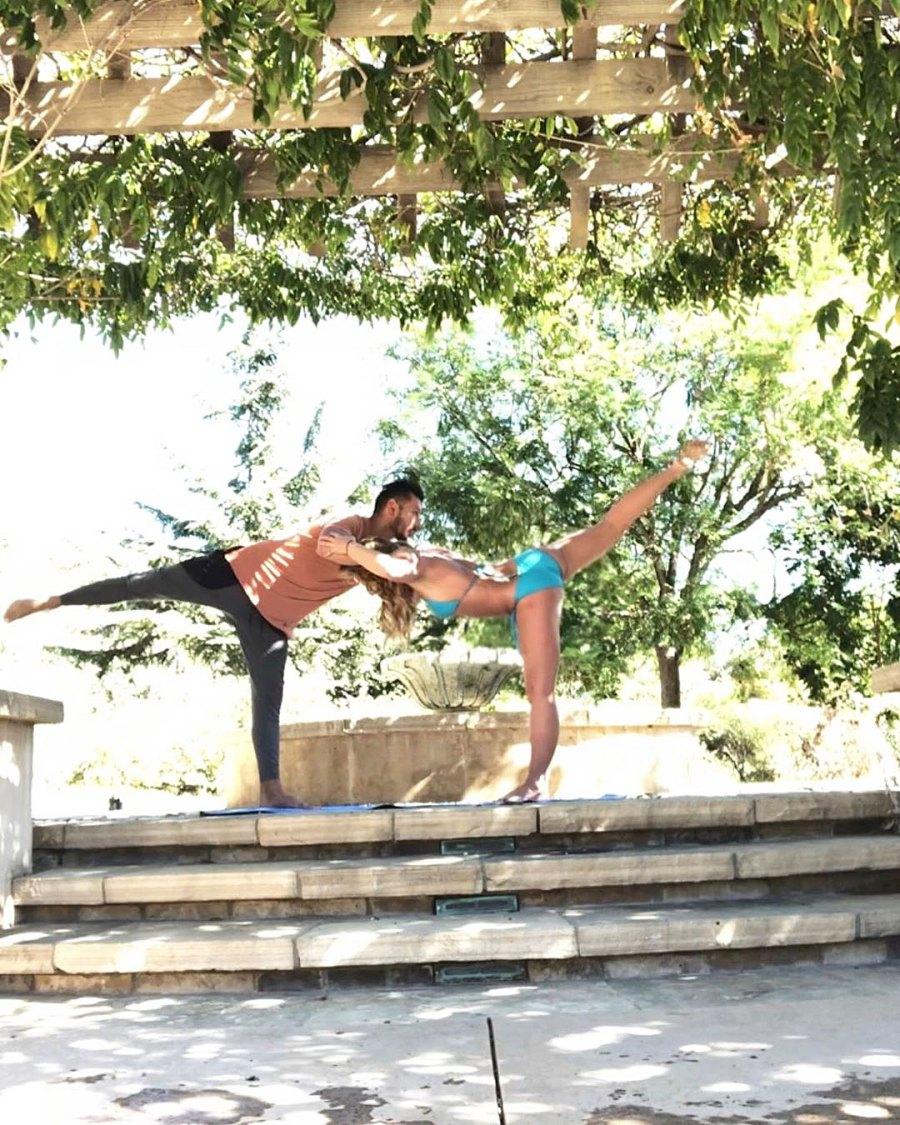 Britney Spears and Sam Asghari Relationship Timeline Doing Yoga Outside
