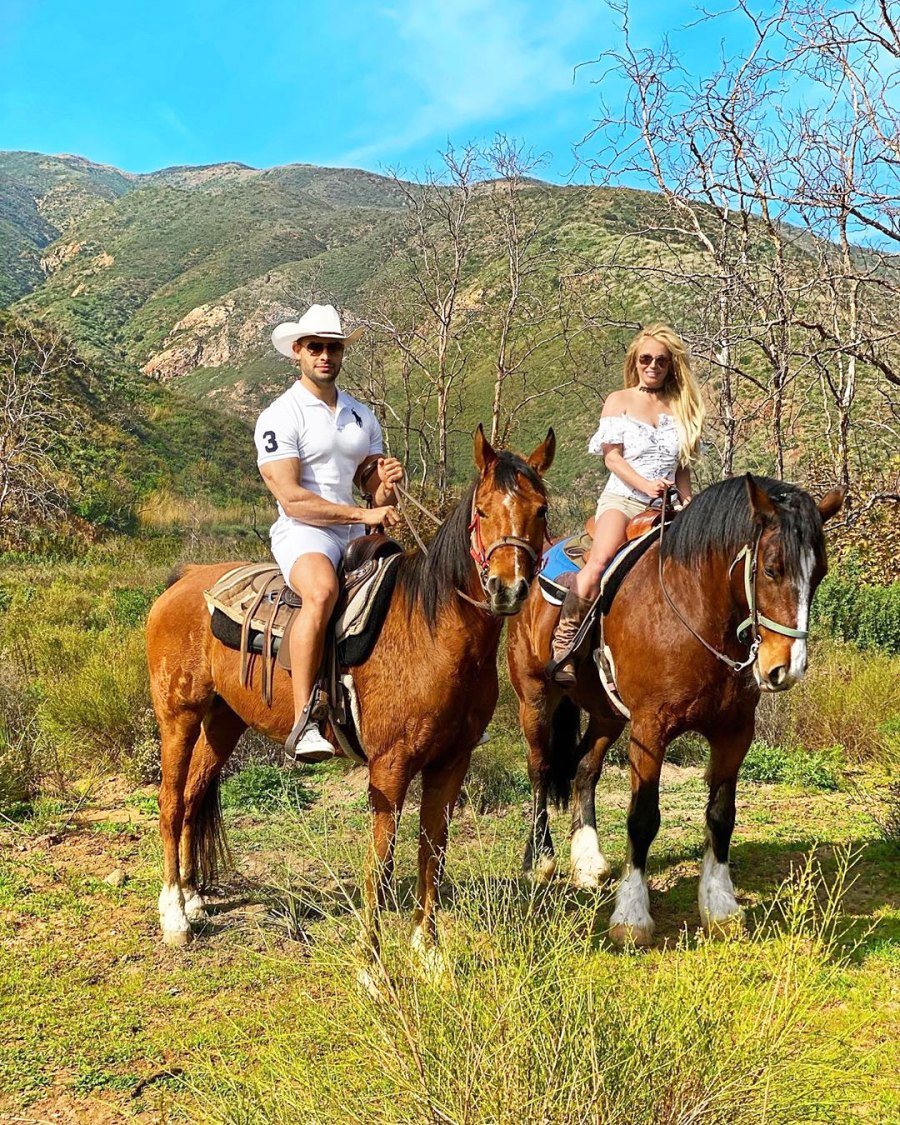 Britney Spears and Sam Asghari Relationship Timeline Riding Horses