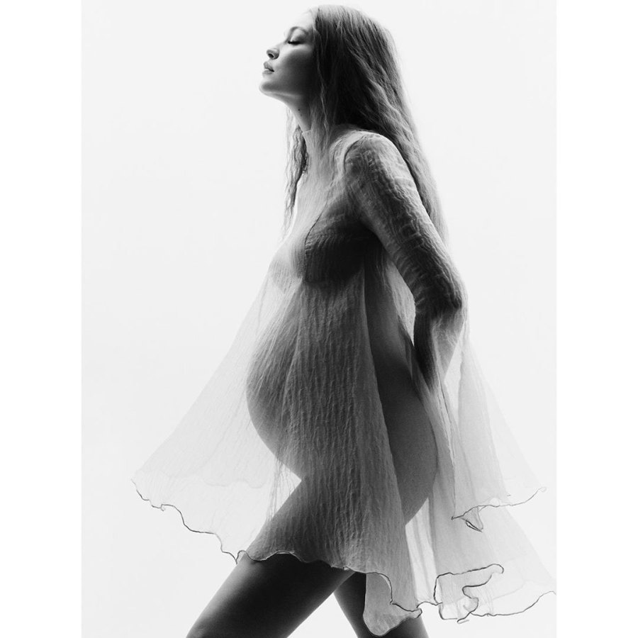 Pregnant Gigi Hadid Debuts Baby Bump Ahead of First Child in Maternity Shoot