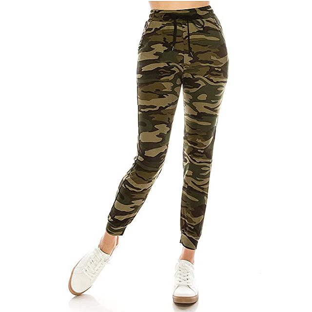 ALWAYS Women Camo Joggers Pants Super Soft Fleeced Warm Winter Pockets Army Military Sweatpants