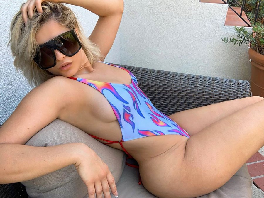Bebe Rexha Shows Off Breathtaking Curves in a Sexy One-Piece