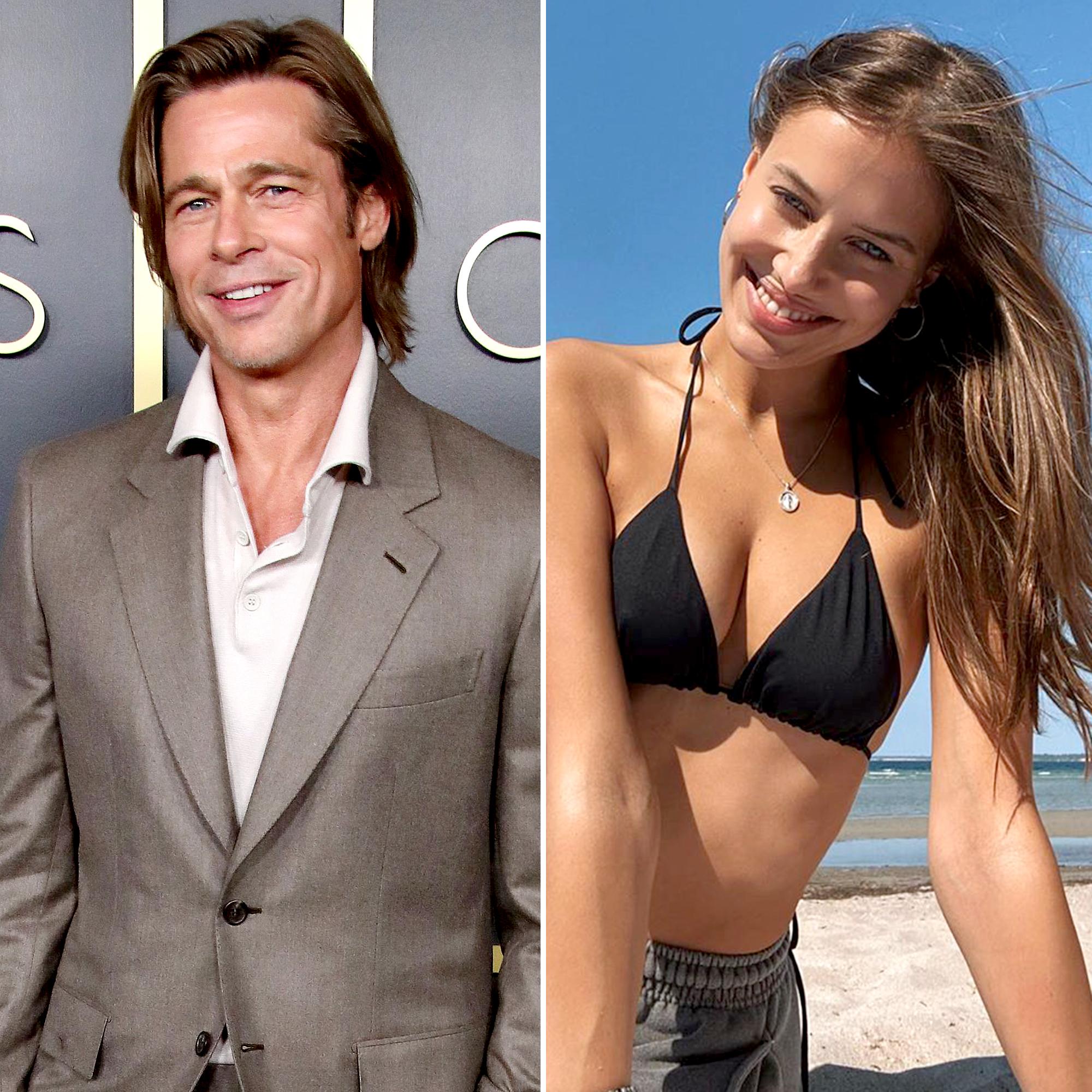 Brad Pitt Nicole Poturalski Looked Flirty Months Before Dating News