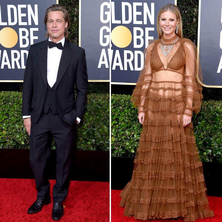Brad Pitt and Gwyneth Paltrow Golden Globes 2020
