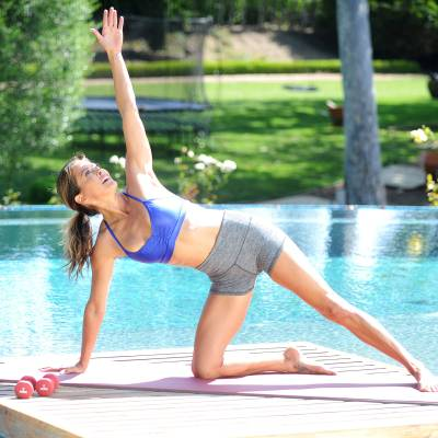 Brooke Burke working out