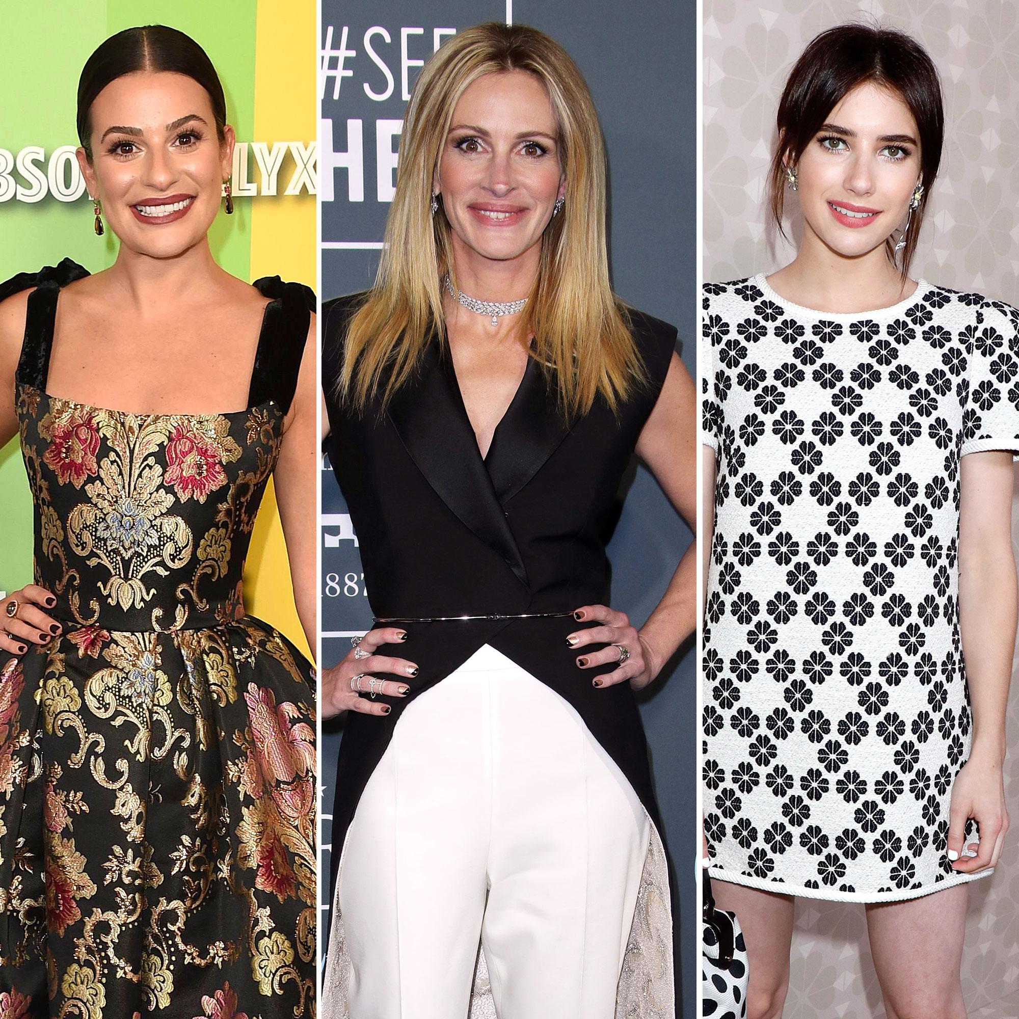 Lea Michele Julia Roberts More Celebrate Emma Roberts Pregnancy