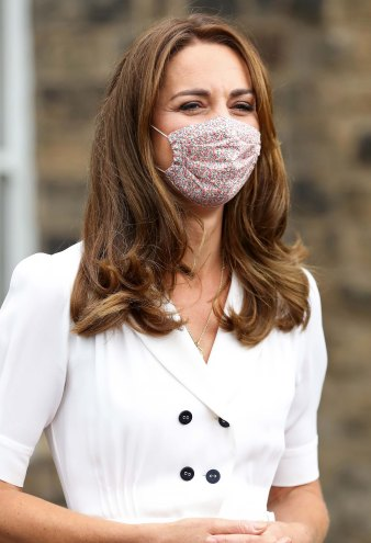 You Can Shop Duchess Kate's Summer-Perfect Floral Face Mask!