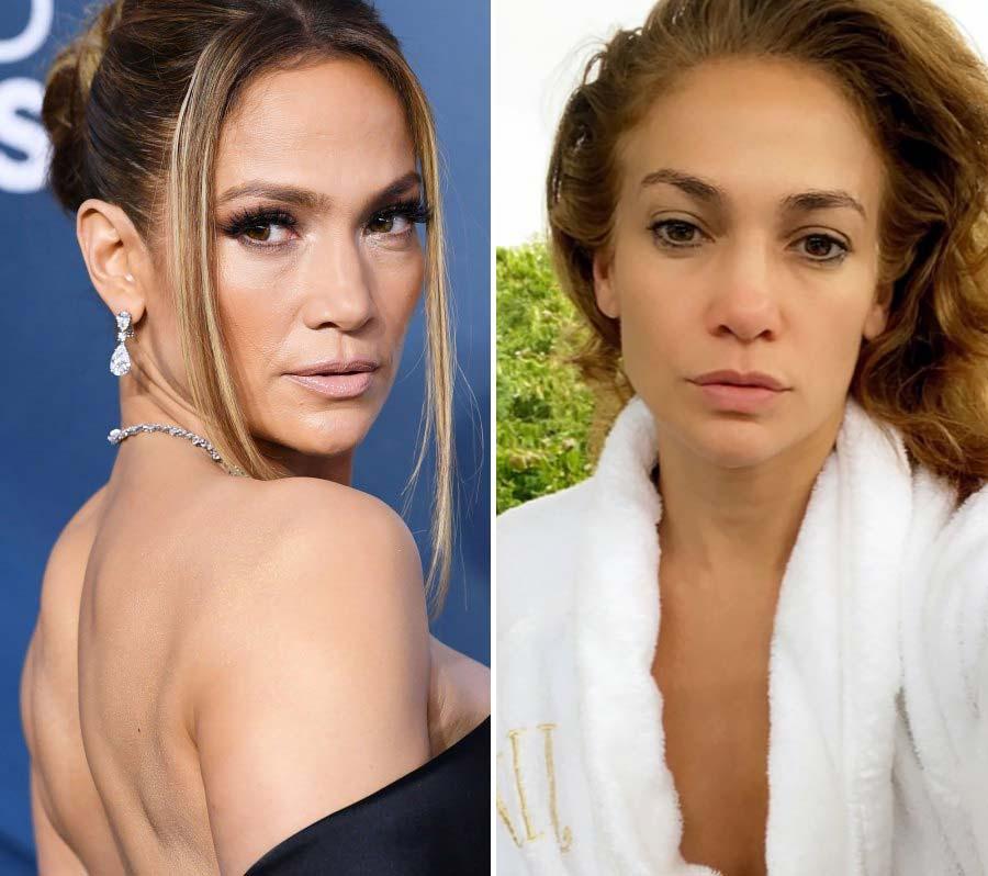 Jennifer Lopez Makeup-Free Instagram