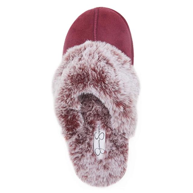 Jessica Simpson - Zapatilla cómoda de piel sintética para mujer (Borgoña)