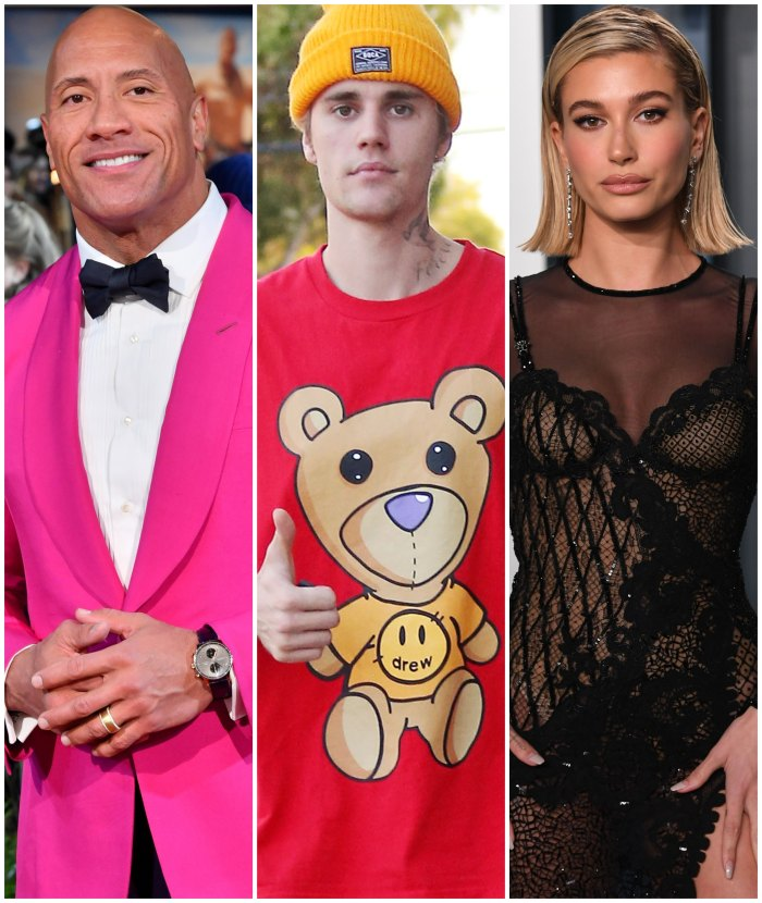 Dwayne Johnson Says He Expects Justin Bieber and Hailey Baldwin to 'Have a Baby in 2021'