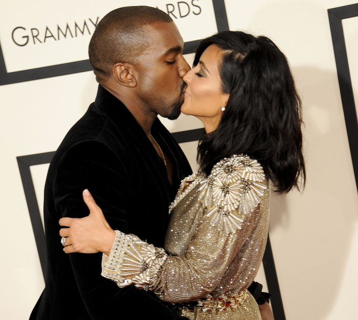 Kanye West Kisses Kim Kardashian After Rocky Few Months