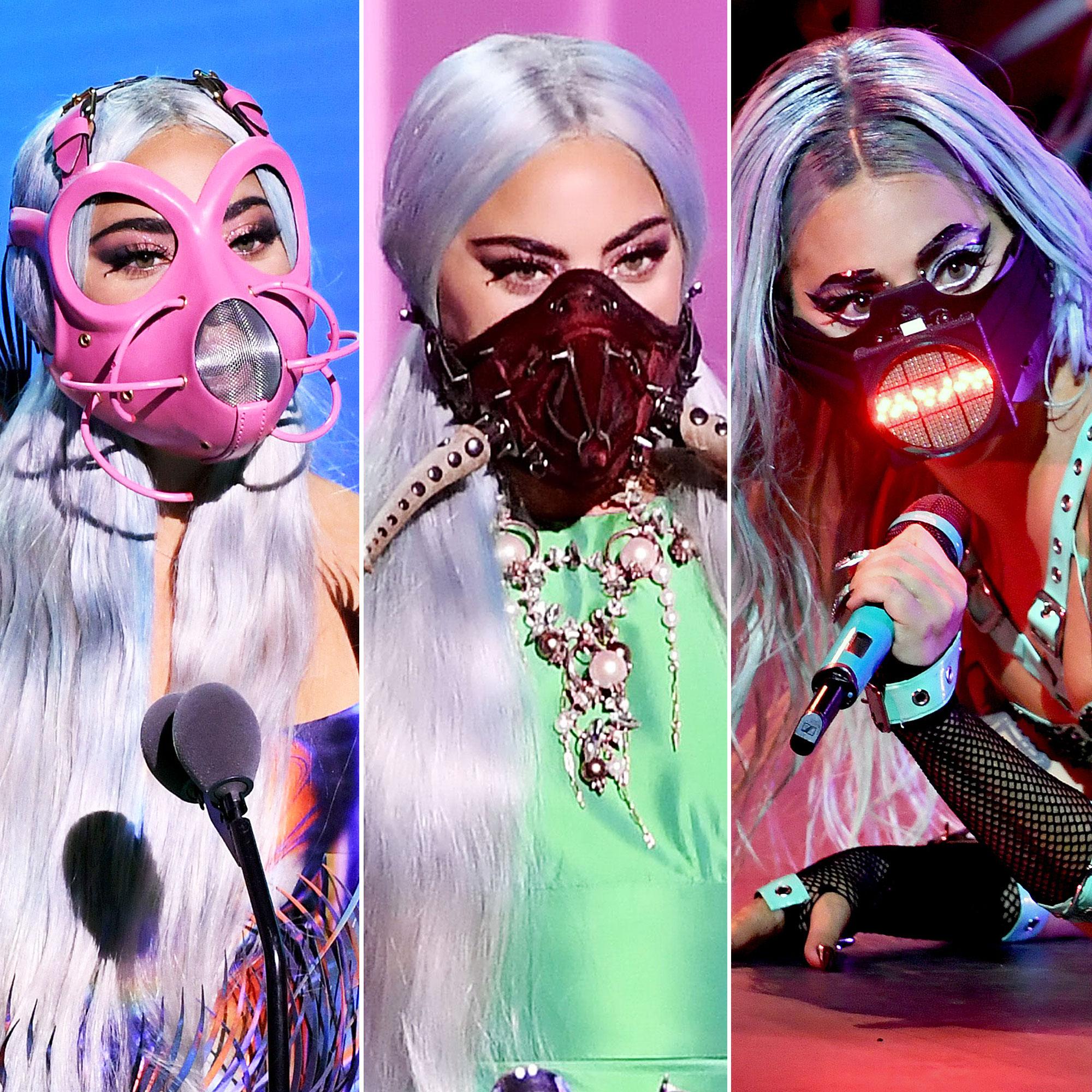 Vmas 2020 Lady Gaga Face Masks Fishbowl Horns More Pics
