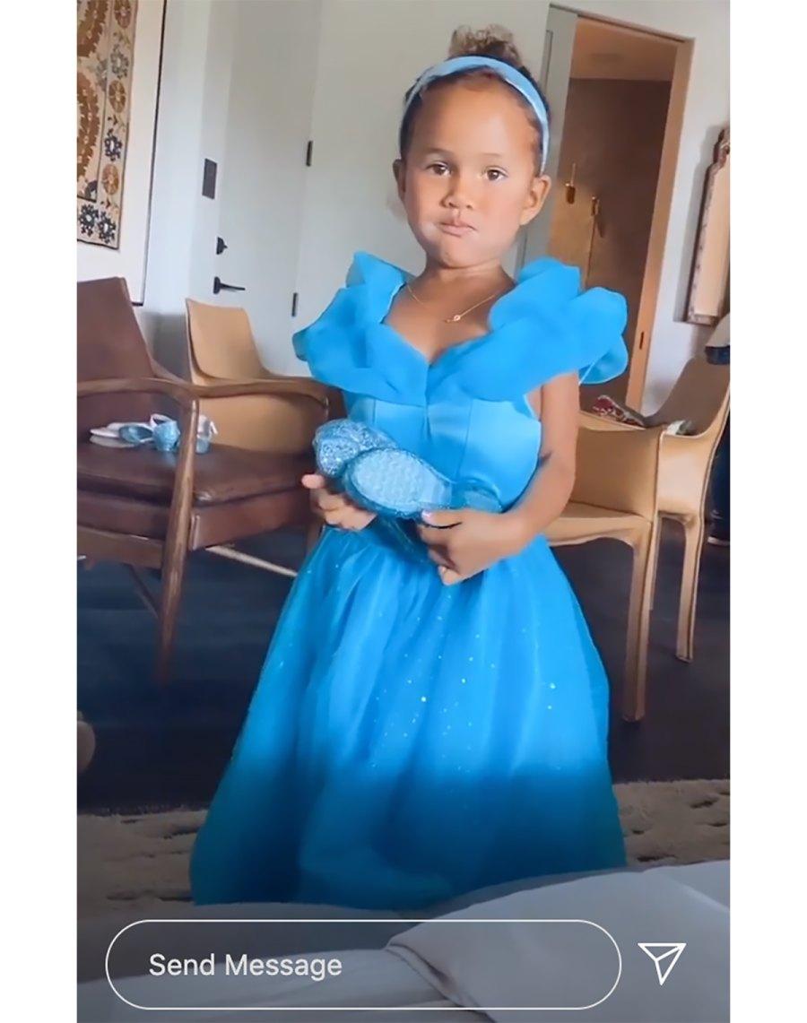 Cinderella! See Chrissy Teigen's Daughter Luna Wearing Princess Dresses