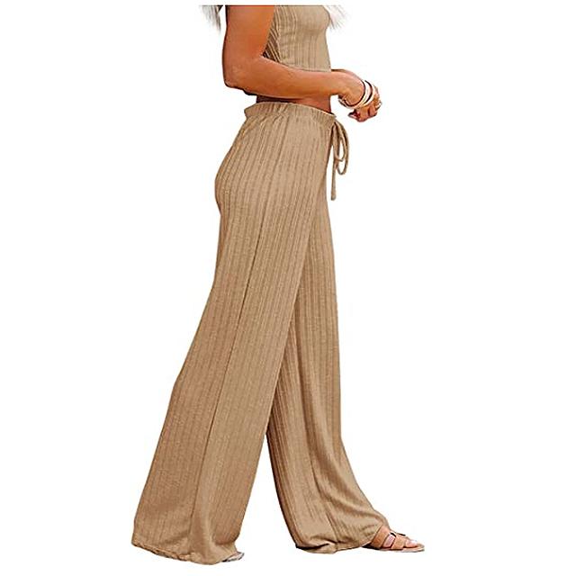 NIMIN Women's Casual Comfy Drawstring Elastic Waist Pants
