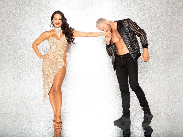 Nikki Bella Celebrates Artem Returning to DWTS by Posting Pics of His Abs