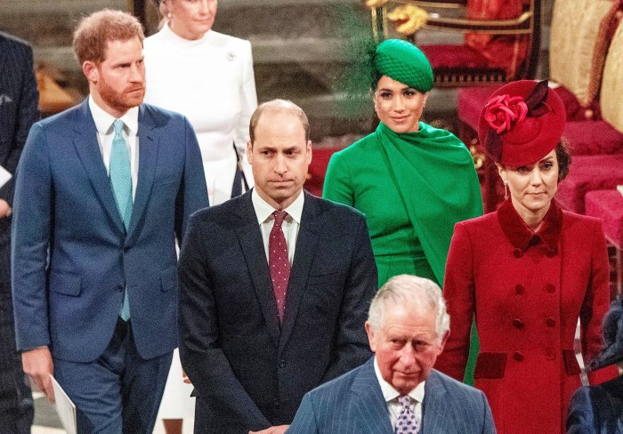 Prince Harry Prince William Meghan Markle and Duchess Kate at 2020 Commonwealth ServicePrincess Diana Would Have Made William and Harry Fix Their Issues