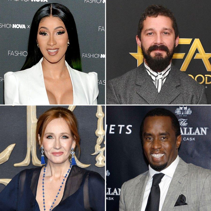 Cardi B Shia LaBeouf Rowling Sean Combs Rags to Riches