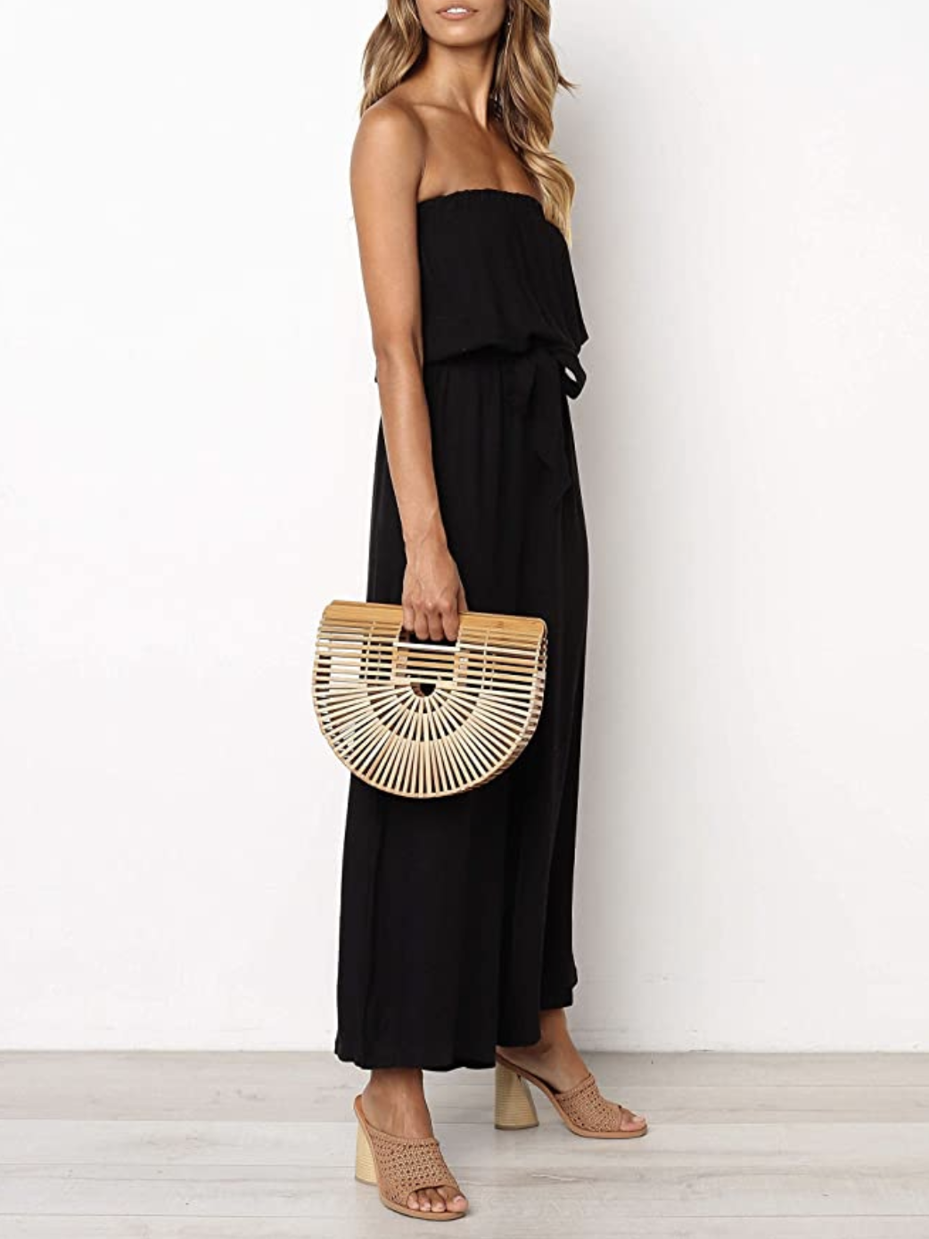 <p>Finally! </p>A Stylish Strapless Jumpsuit That Works for Day and Night thumbnail