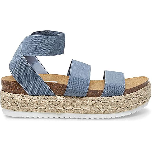 Steve Madden Kimmie Espadrille Sandal (Dusty Blue)